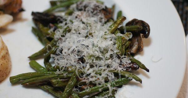 Mushrooms, Balsamic and Parmesan | Green Beans | Pinterest | Parmesan ...