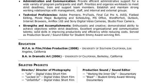 a5712d81b4392704d78c47c108b1e9b9 Sample Curriculum Vitae For Television on high school, ejemplos de, what is, formato de, resume or,