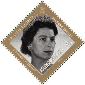 Stamp Diamond Jubilee Lifetime Of Service Ascension Island