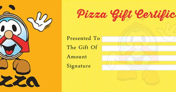 pizza gift certificate template free gift certificate