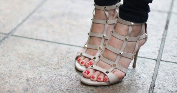 caged & studded valentinos
