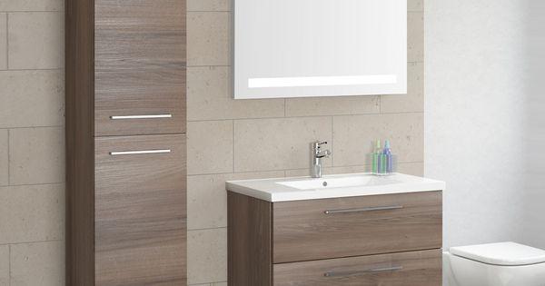 Seville Two Drawer Wall Hung Vanity Unit Basin Walnut 800 Washbasin Design Bathroom Interior Design Wall Hung Vanity