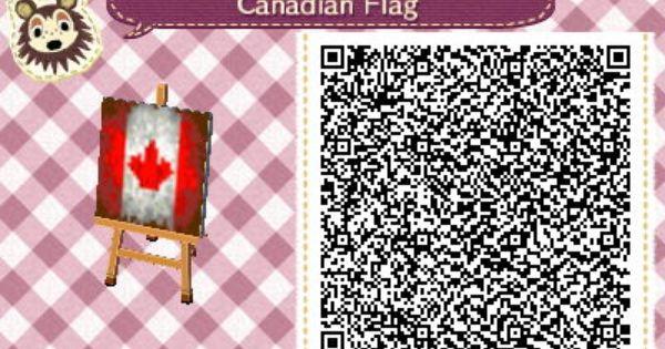 Canadian Flag Qrcrossing Com Qr Codes Animal Crossing Qr