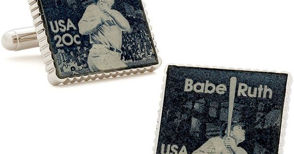 Babe ruth, Cufflinks and Stamps on Pinterest