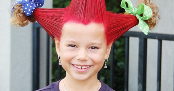 crazy hair day ideas - seriously click this. There are SO many