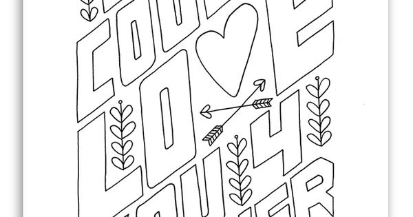 """Love You Forever"" Free Coloring Page"