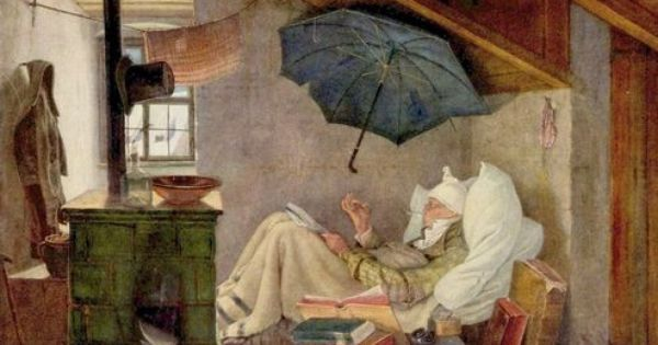 der arme poet 39 von carl spitzweg. Black Bedroom Furniture Sets. Home Design Ideas