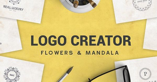 Logo Creator Flowers & Mandala Design