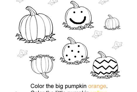 small pumpkin coloring pages - photo#25