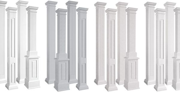 endura-stone square non-tapered architectural columns post and