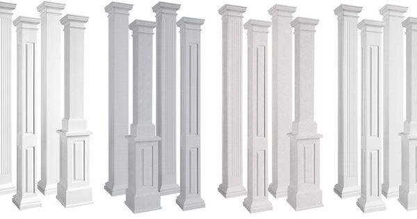 endura-stone square non-tapered architectural columns post and