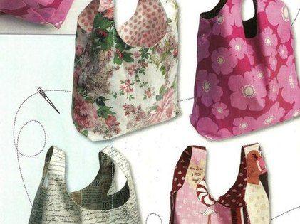 Molde para hacer una bolsa de tela manualidades - Bolsas de tela manualidades ...