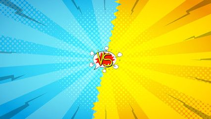 Versus Letters Fight Backdrop Vector Illustration Decorative Background With Bomb Explosive In Pop Art Styl Vintage Boxing Posters Pop Art Cartoon Background