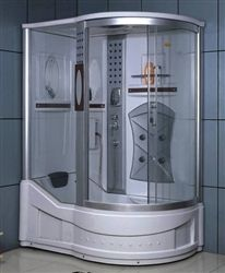 Right Corner Shower Enclosure W Bathtub Radio 5 Massage Jets