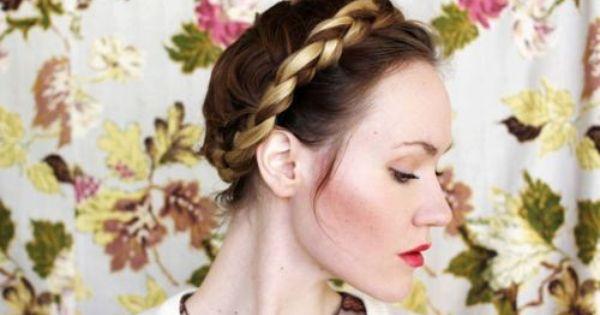 french braided crown braid