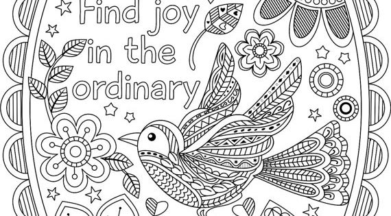 Printable Quot Find Joy In The Ordinary Quot Coloring Pages With