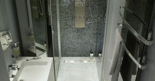 Am nagement petite salle de bain 34 id es copier salle de bain et merlin - Amenagement salle de bain en longueur ...