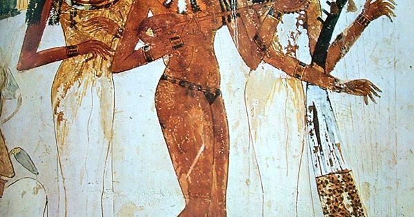 Cortesanas pintura mural de arte egipcio arte egipcio for Mural egipcio