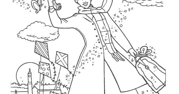 mary poppins coloring pages book - photo#21