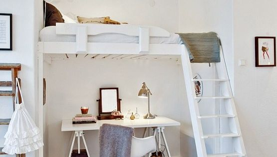 Zona de descanso en altillo en estudios y mini pisos - Muebles pisos pequenos ...