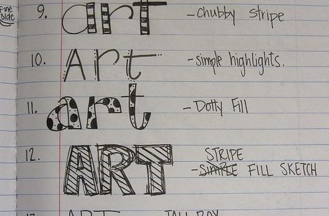 I should make a catalog of different hand-lettering styles as a reference