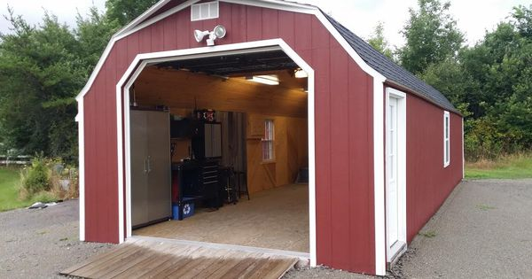 Man Cave Sheds And Garages : Portable garage delivered fully assembled and