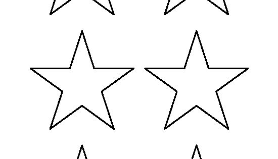 3 Inch Star Pattern. Use The Printable Outline For Crafts