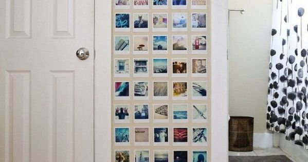 mur de polaro d diy d co pinterest polaroid mur et chambres. Black Bedroom Furniture Sets. Home Design Ideas