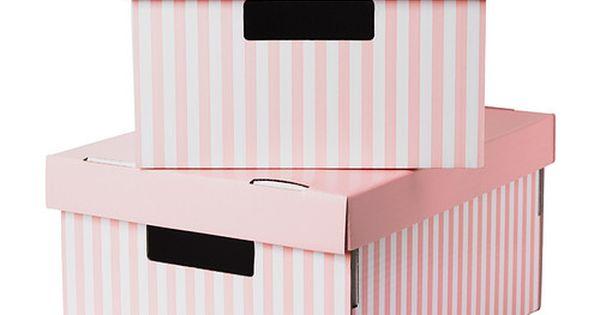 ikea pingla box mit deckel rosa 28x37x18 cm. Black Bedroom Furniture Sets. Home Design Ideas