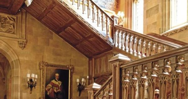 Staircase Downton Abbey This staircase took 2 years to carve (in the