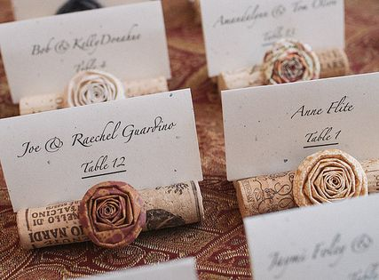Option 2: Wine Cork Placement Cards