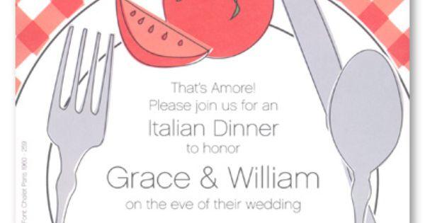 italian placesetting rehearsal dinner invitations 5127 engagement partido pinterest