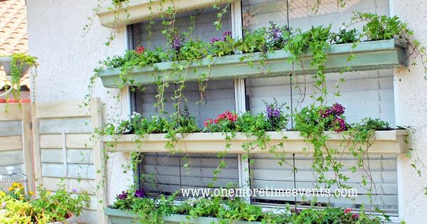Rain gutter planter boxes one more time events flower for Rain gutter planter box