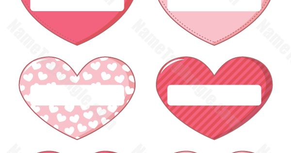 Free Printable Heart Shaped Name Tags The Template Can