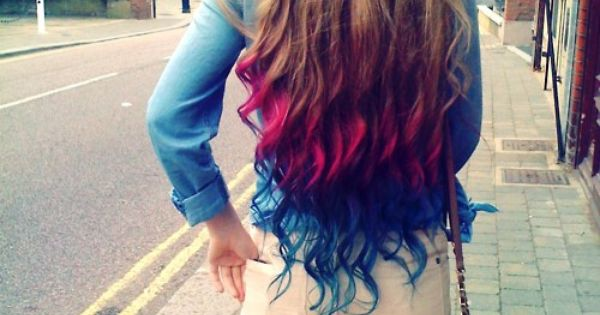 Dip-dyed hair! DyedHair one day....maybe:)