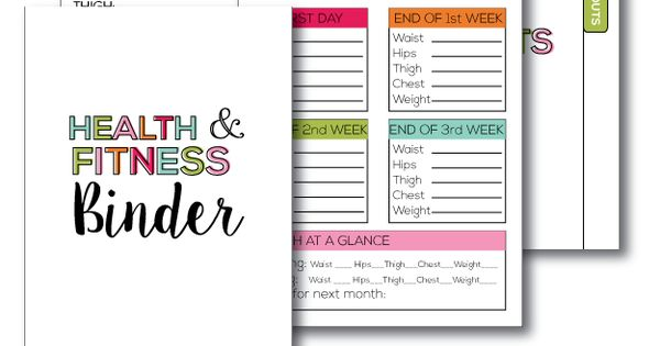 Fitness & Health Binder | Health, Printables and Fitness