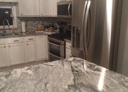 White Silver Granite Countertop : Kitchen granite countertops - Viscont White/Silver Cloud from Granite ...
