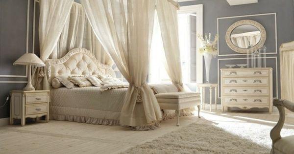 Lit baldaquin pour une chambre de d co romantique moderne for Decoration chambre nuptiale