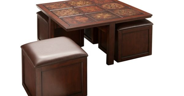 Gillyan Coffee Table W 4 Flip Top Storage Ottomans Coffee Tables Raymour And Flanigan