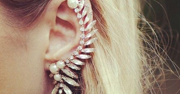 Pretty Ear Piercings With Chain Tumblr Ear Piercing