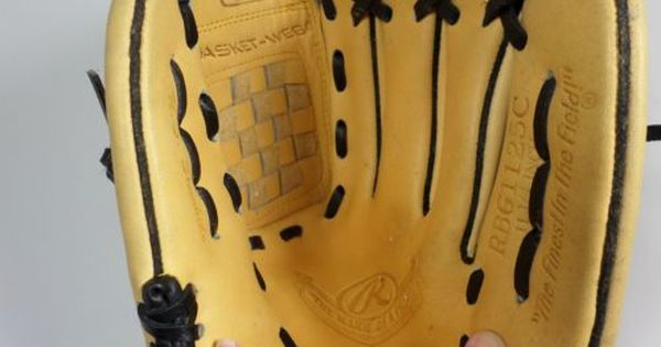 Rawlings Baseball Glove Rbg1125c Basket Web Player Preferred Right Hand Throw Ebay Rawlings Baseball Baseball Glove Vintage Baseball Gloves