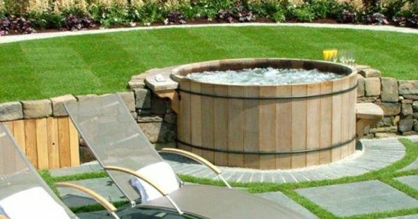 Gartengestaltung mit einem badewanne mit h lzernen - Jacuzzi esterna ...