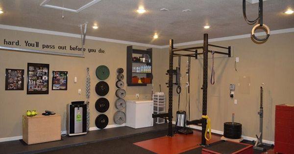 Very nice gym lots of space look so clean too garage