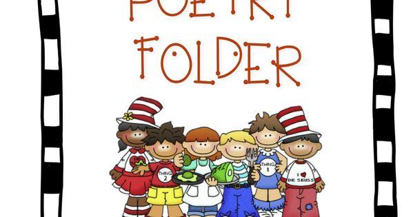Kindergarten Poetry Book Cover ~ Poetry folder cover for my students pinterest school