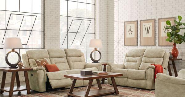 Halton Hills Sand 3 Pc Living Room With Reclining Sofa Living Room Sets Furniture Living Room Suite Living Room Sets