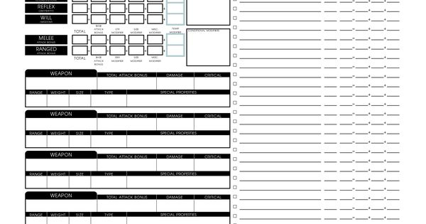 2nd Edition Character Sheet Pdf Dungeons And Dragons