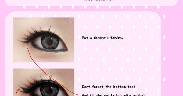 Gyaru Eye Make Up tutorial ~ this girl is hilarious hahaha