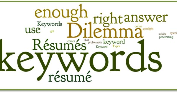 Create your own search power on your resume by using strong - Keywords To Use In A Resume