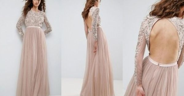 K2e007 Needle Thread Nl3 Sukienka Zdobienie M 6814829262 Oficjalne Archiwum Allegro Backless Dress Formal Prom Dresses Fashion