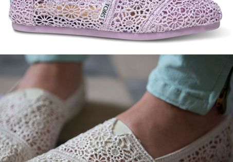 Toms shoes. Just recieved these shoes in the mail, they are VERY comfortable and so cute,LOVE THESE SHOES! #toms shoes #fashion #flat | See more about Lace Toms, Crochet Lace and Toms.